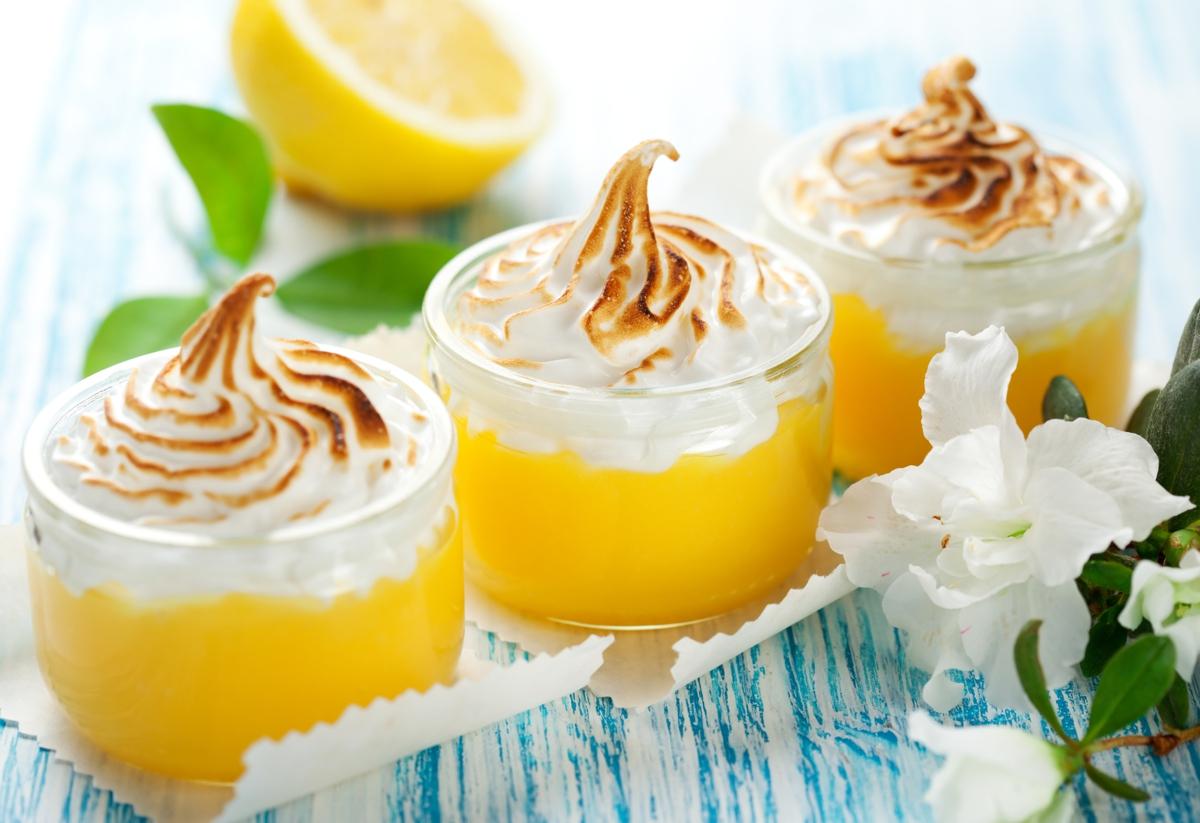 postres de Navidad -Crema de limón con merengue