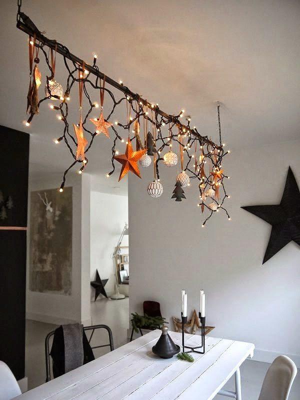 guirnaldas de Navidad en decoración nórdica