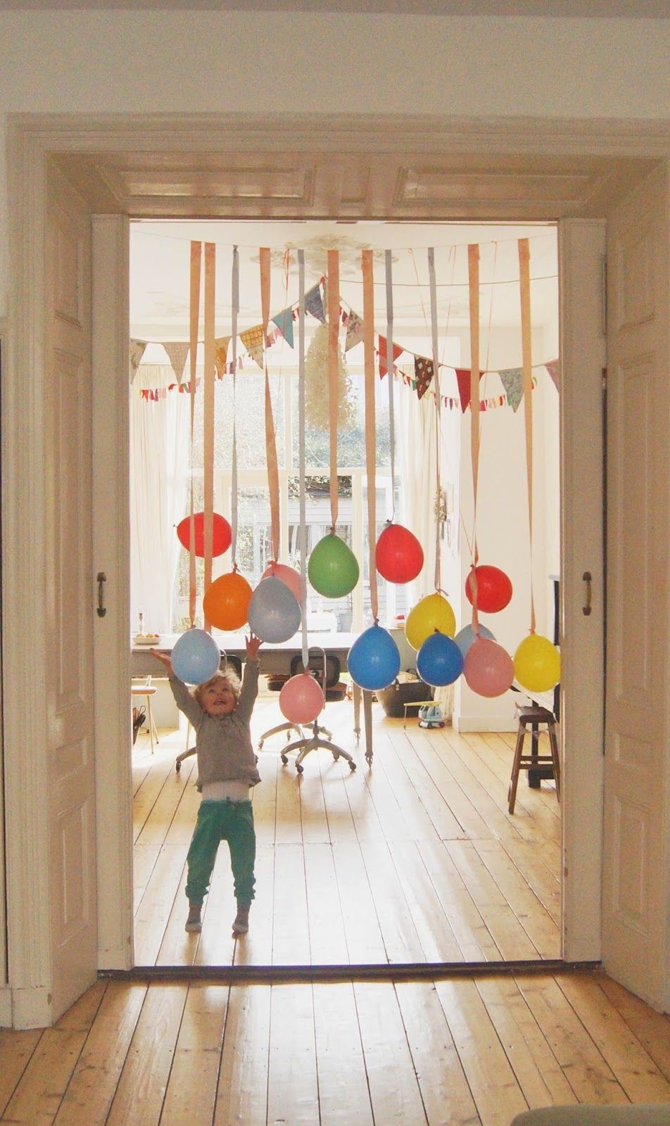 guirnaldas de Navidad con globos