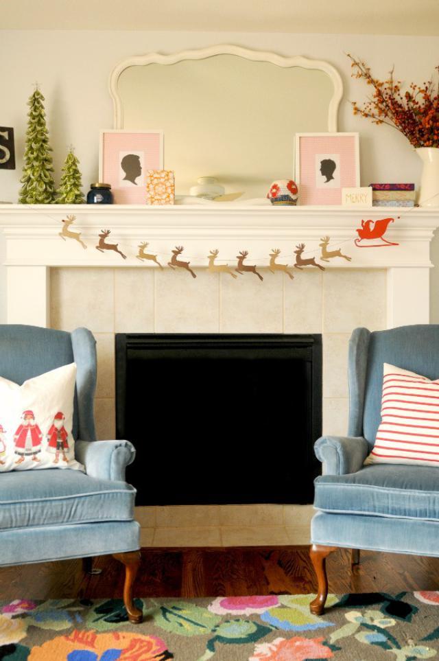 guirnaldas de Navidad con renos