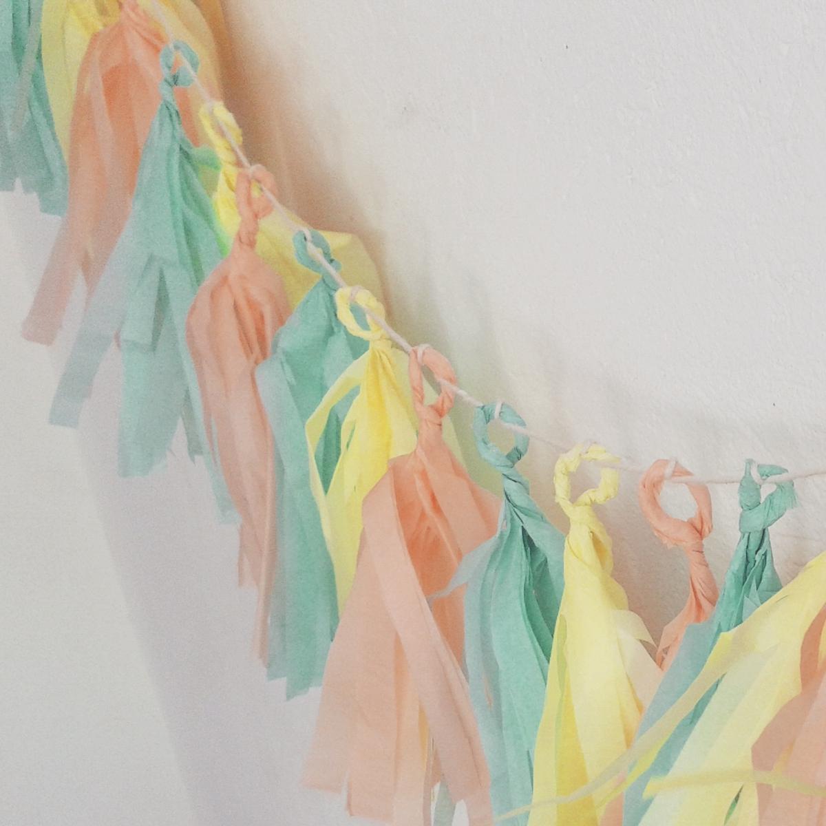 guirnaldas de Navidad con papel de seda