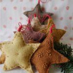 adornos navideños en fieltro - estrellas