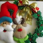 adornos navideños en fieltro - Santa Claus