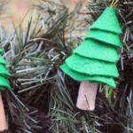 adornos navideños en fieltro - árbol