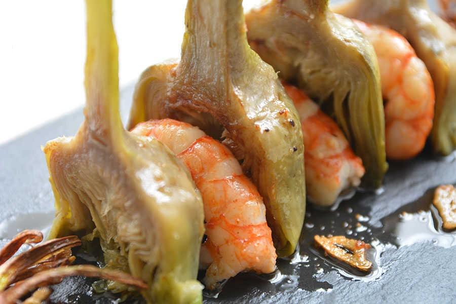 recetas navideñas fáciles - alcachofas