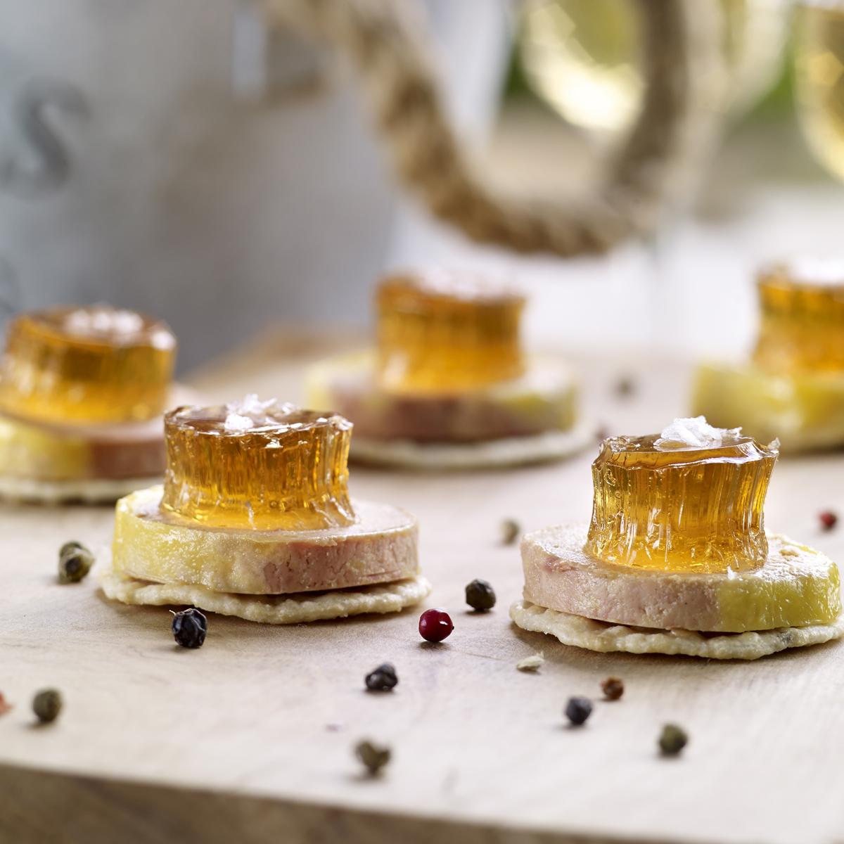 recetas navideñas fáciles - tostas de foie