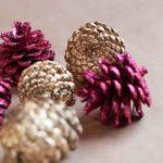 decoraciones para Navidad con piñas