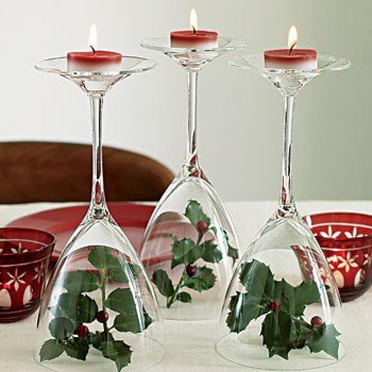 decoraciones para Navidad con copas