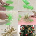decoraciones para Navidad con pajitas