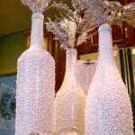 decoraciones para Navidad con botellas pintadas