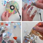 decoraciones para Navidad con CDs