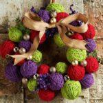 decoraciones para Navidad con ovillos