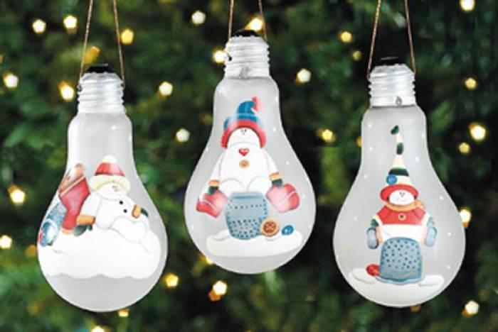 decoraciones para Navidad con bombillas