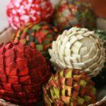 bolas de Navidad de poliespan de tela