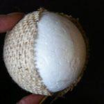 bolas de Navidad de poliespan blancas