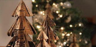 adornos navideños de papel - árboles