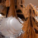 adornos navideños de papel - mini árboles