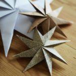 adornos navideños de papel - estrellas