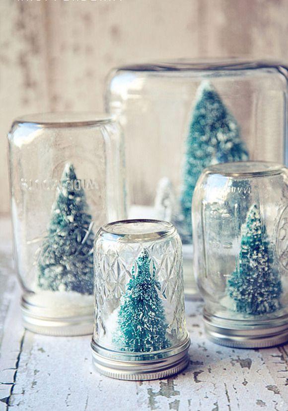 C mo hacer tarros de nieve para regalar navidad for Adornos navidenos para regalar