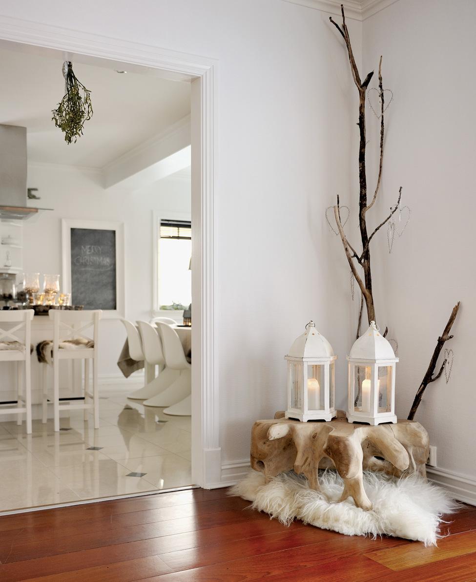 diseño de decoración navideña - recibidor