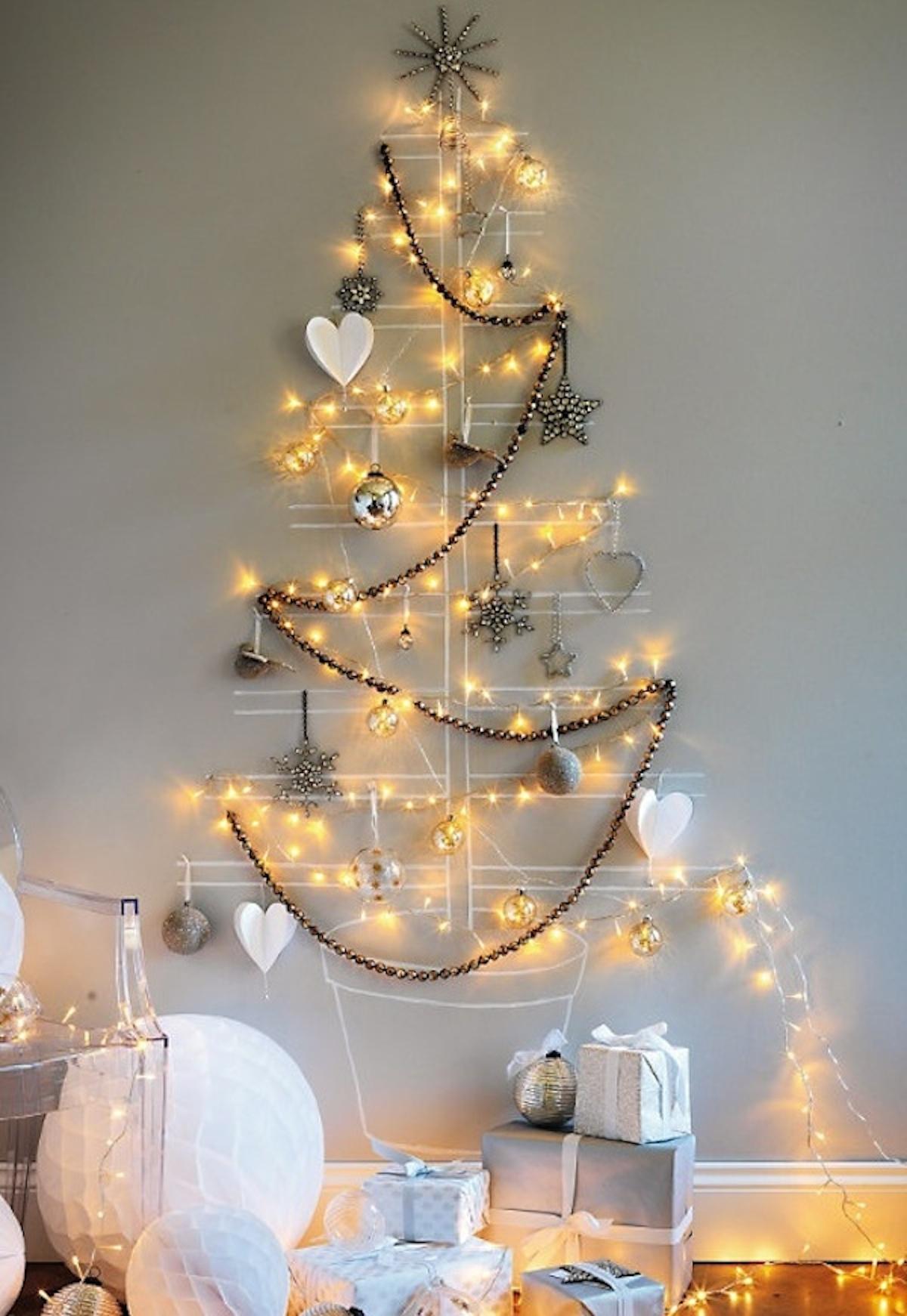 diseño de decoración navideña - árbol de luces