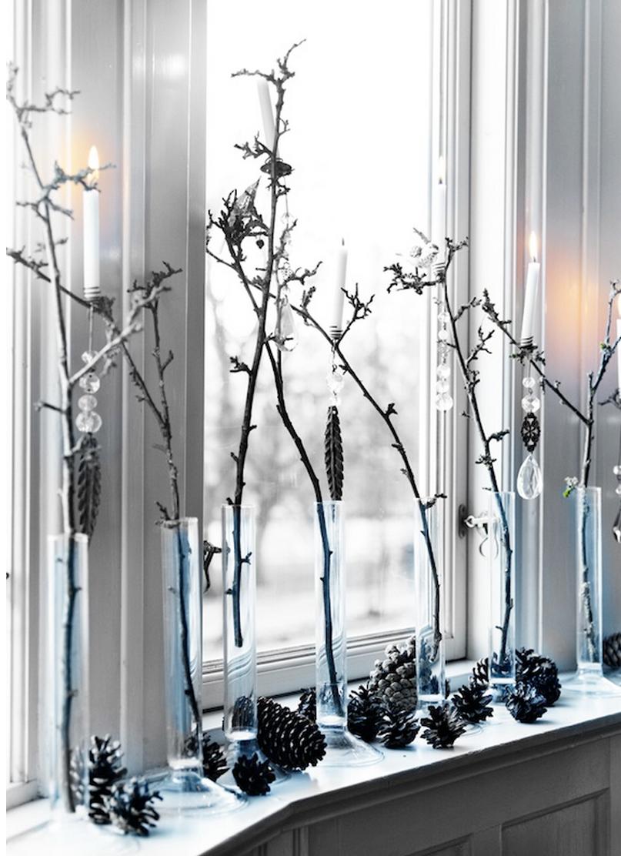 diseño de decoración navideña - ramas