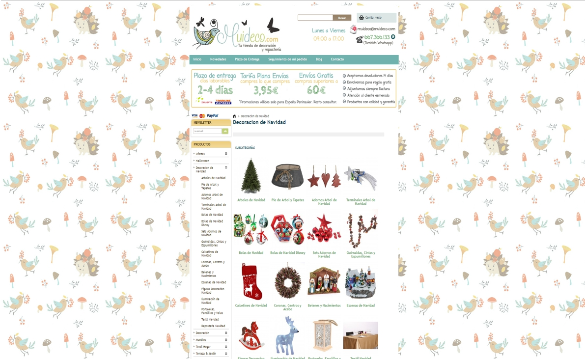 decoración de Navidad online - muideco