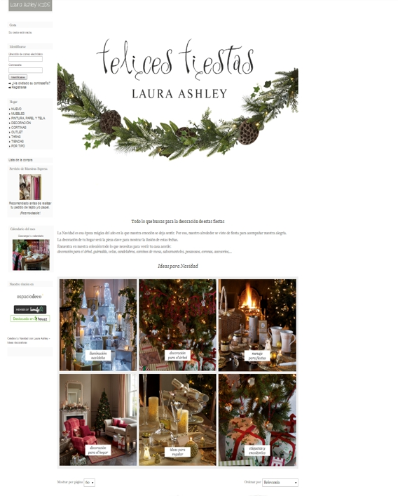 decoración de Navidad online - Laura Ashley
