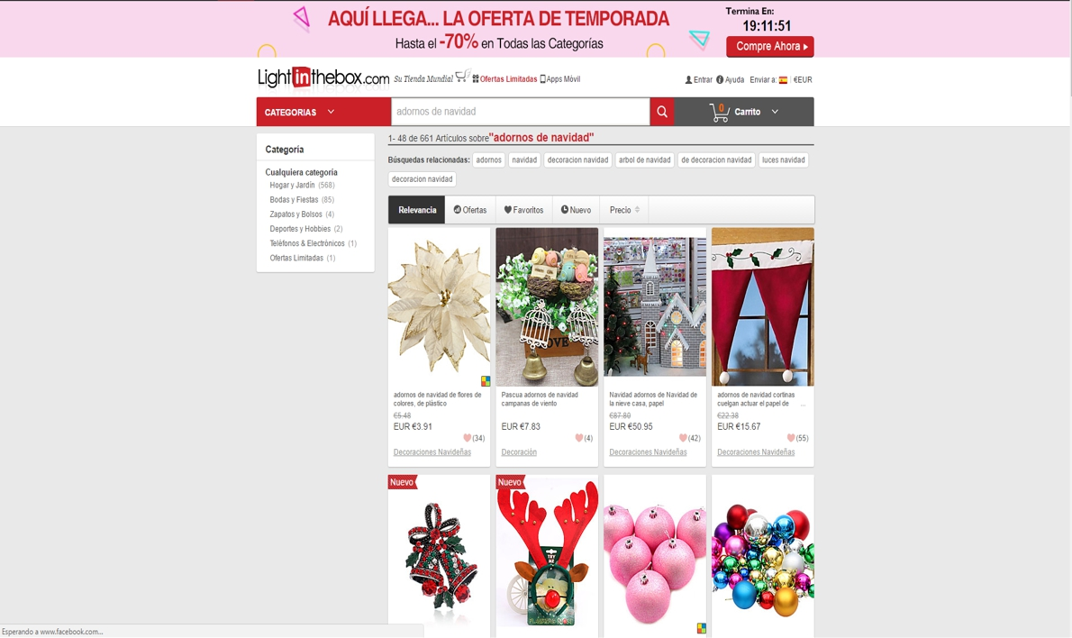 decoración de Navidad online - lightinthebox