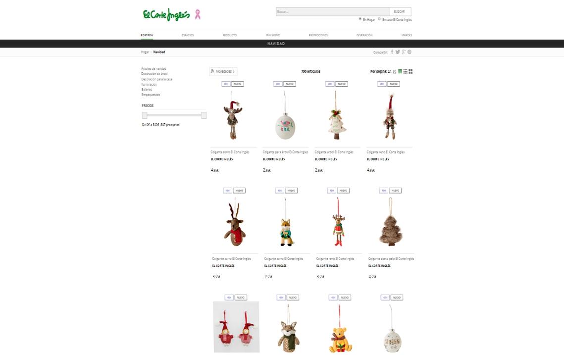 decoración de Navidad online - El Corte Inglés