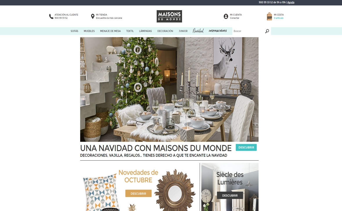 decoración de Navidad online - maisons du monde