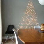 decoración de Navidad casera con luces