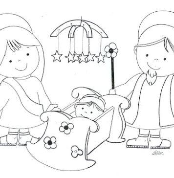 283360871e8 Actividades navideñas para niños  figuras del pesebre para colorear