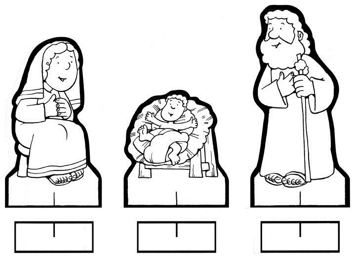 figuras del pesebre para colorear - niño jesús