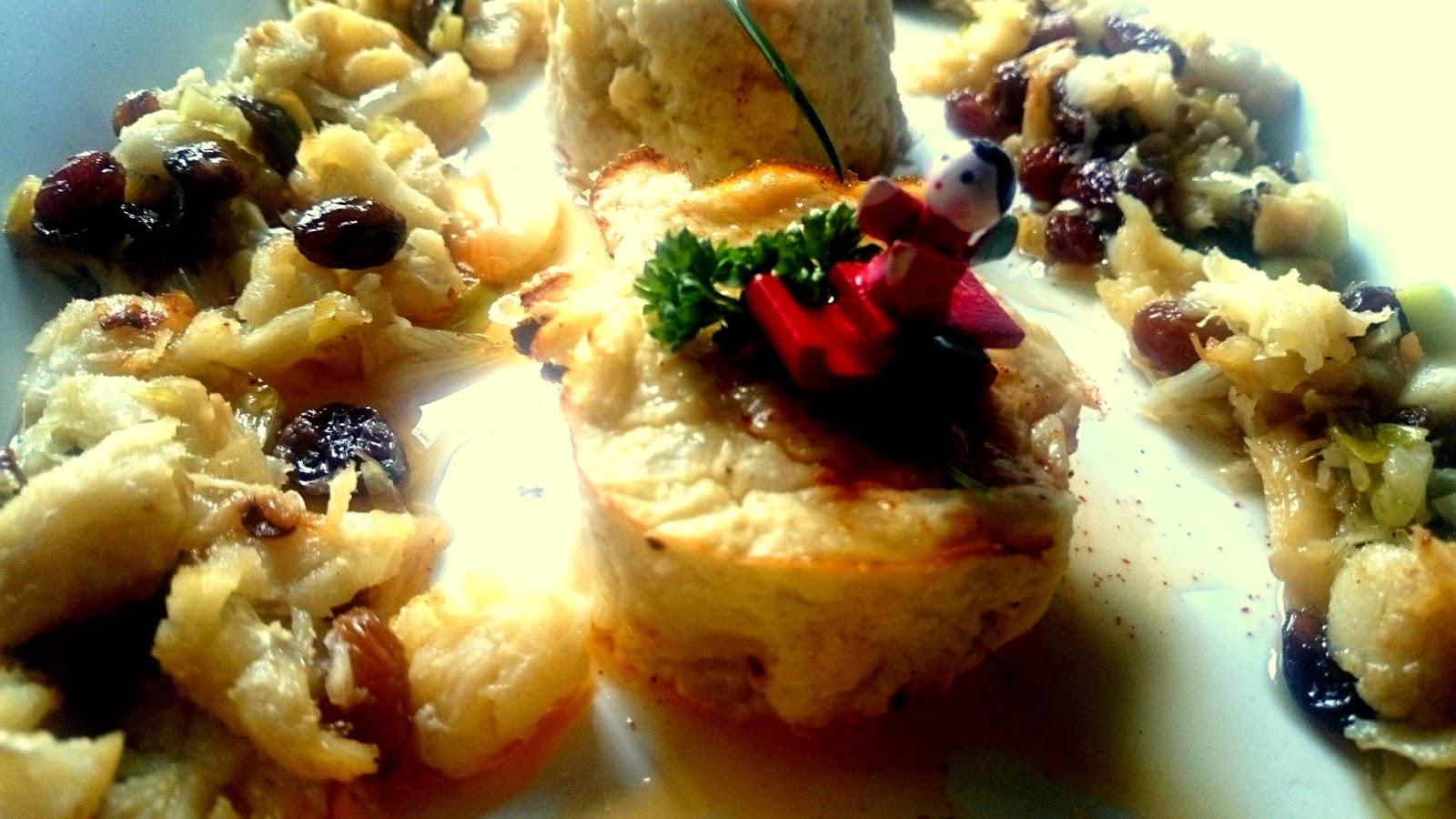 recetas navideñas españolas - coliflor con bacalao