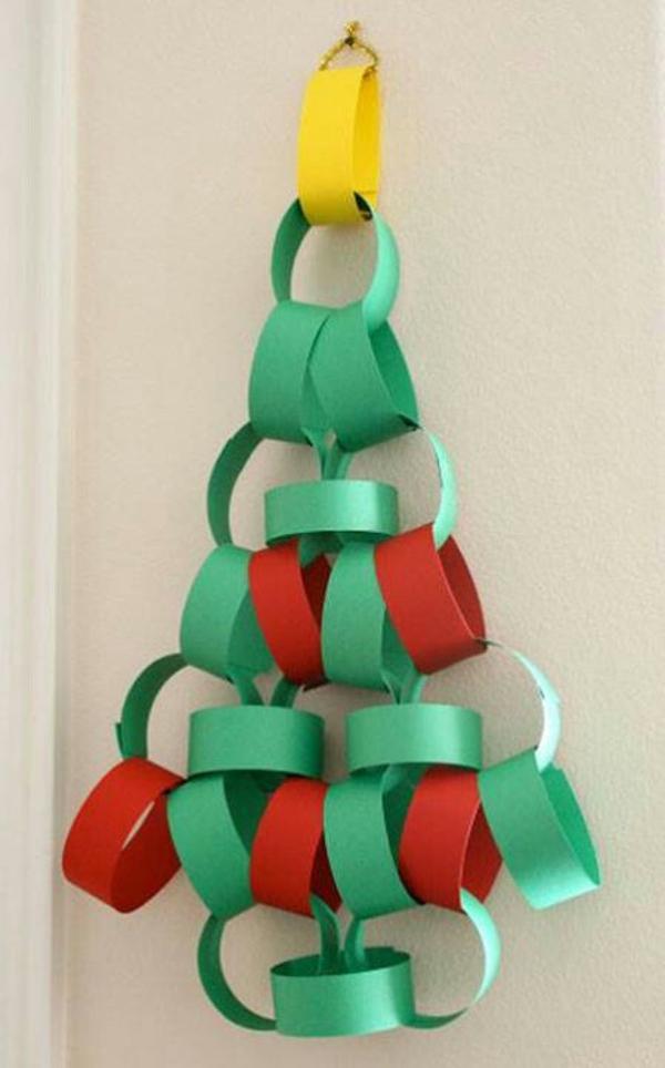 adornos navideños infantiles con cadenetas