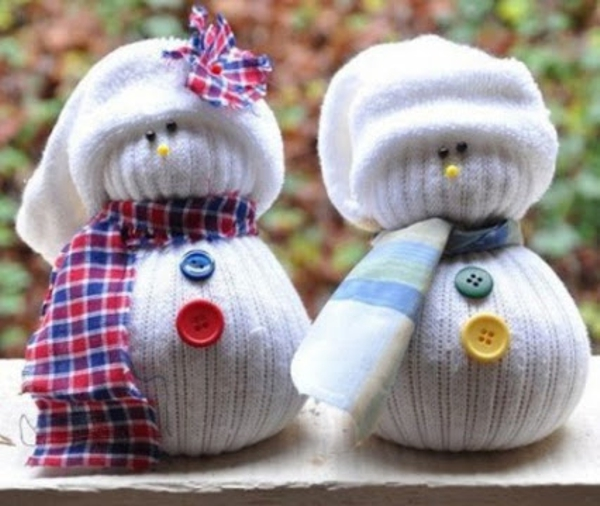 adornos navideños infantiles - muñeco de nieve