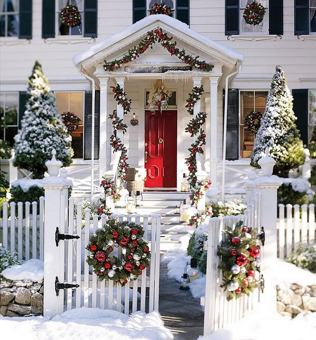 adornos navideños para exteriores - fachadas