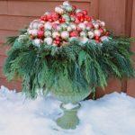 adornos navideños para exteriores - maceteros