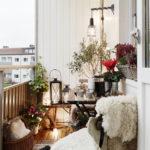 adornos navideños para exteriores - plantas