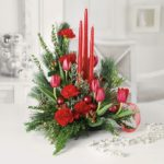 arreglos de flores para Navidad - rojos