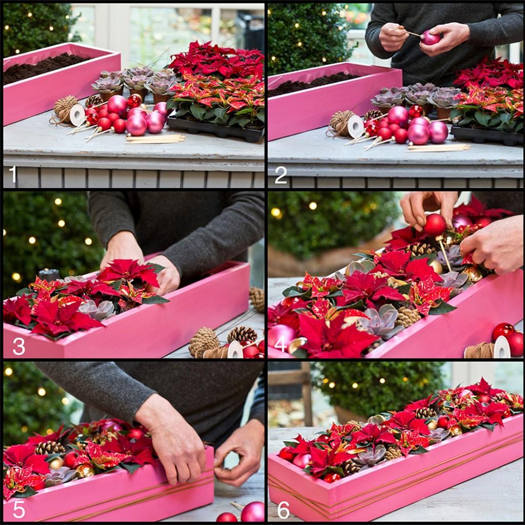arreglos de flores para Navidad - pasos a seguir