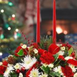 arreglos de flores para Navidad - rojos y blancos