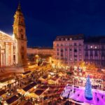 Navidad en Hungría iluminada