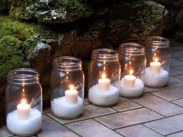 iluminar la casa en Navidad con velas