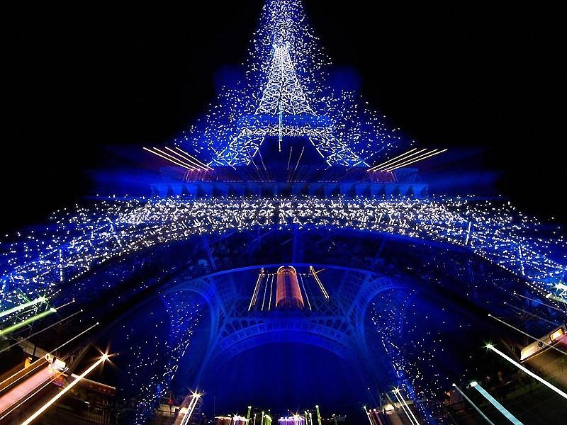 navidad en Francia torre Eiffel