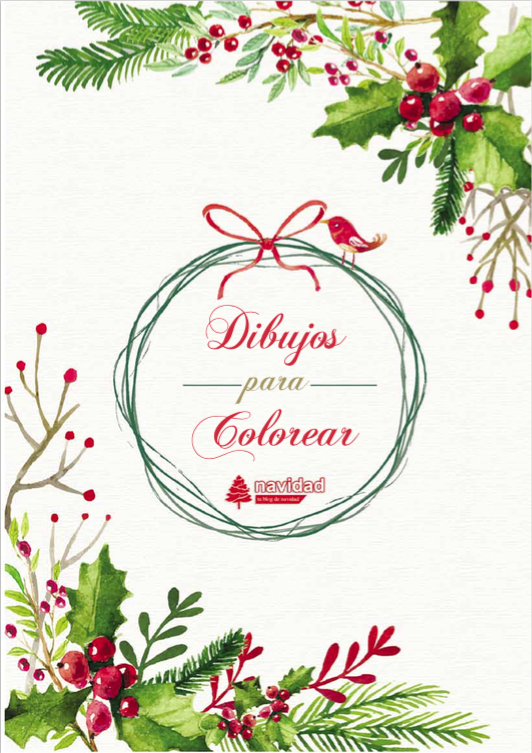 Catálogos de dibujos de Navidad para colorear e imprimir - Navidad ...