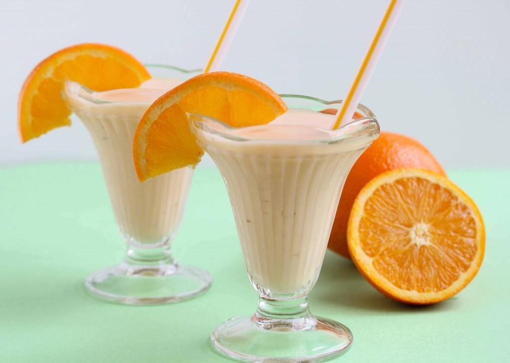 batidos de turrón con zumo de naranja