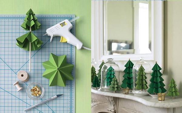 adornos de navidad caseros - Arbolitos de Navidad