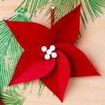adornos de Navidad caseros - Flor